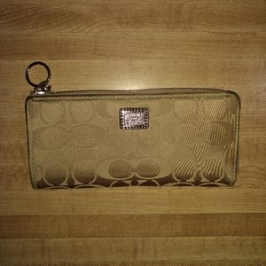 Coach Poppy Signature Full Size Wallet